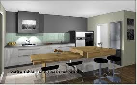 cuisine escamotable table pliante with ilot central table hauteur plan de travail