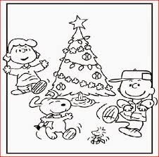 coloring charlie brown christmas coloring