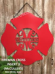 Monogram House Flags Fireman Cross Monogram Metal Acm 24