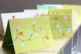 christmas lights cards from kids u0027 fingerprints u2013 danya banya