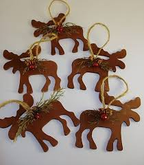 moose ornaments chritsmas decor