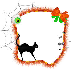 halloween transparent photo frame with black cat gallery