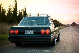 stanced nissan skyline the 80s are forever mark crawford u0027s r31 skyline stanceworks