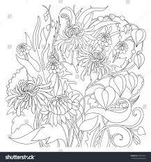 coloring page flower bouquet virtren com