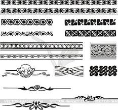 nouveau simple ornaments vector image