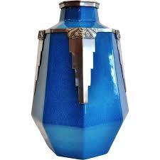 Deco Vase Exceptional Boch Freres Art Deco Vase