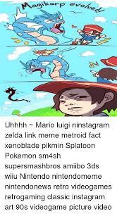 Uhhhh Meme - evo uhhhh mario luigi ninstagram zelda link meme metroid fact