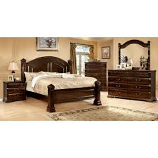 furniture of america burleigh bedroom set in cherry finish local