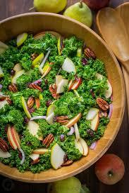 Easy Salad Recipe by Kale Salad With Honey Lemon Dressing Natashaskitchen Com