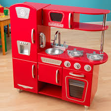 pretend kitchen furniture kidkraft red vintage play kitchen 53173 hayneedle
