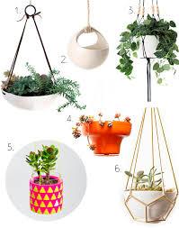 modern hanging planters whorange