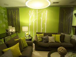 green walls living room home interior design green interior design