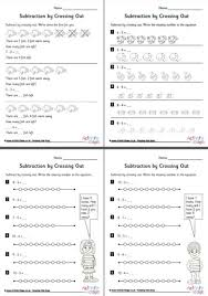 subtraction by crossing out worksheets set 1
