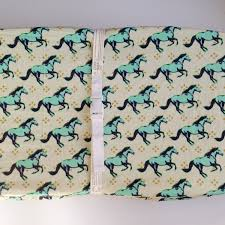 Mini Crib Baby Bedding by Horse Crib Bedding Changing Pad Cover Aqua Crib Sheets