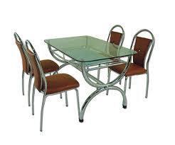 Metal Dining Room Chairs by Steel Dining Set 5 Piece Dining Set Wood Metal 4 Chairs And