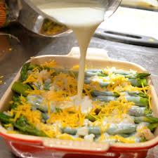 asparagus casserole in the kitchen