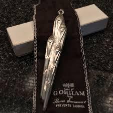 vintage 1973 gorham sterling silver icicle ornament 441