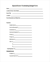 sample budget forms