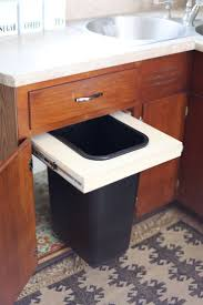 Kitchen Cabinets Slide Out Shelves by Best 25 Trash Can Cabinet Ideas On Pinterest Cabinet Trash Can