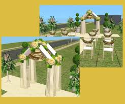 wedding arches sims 3 mod the sims it s your day new wedding collection