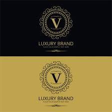 elegant vintage letter v logo vector free download