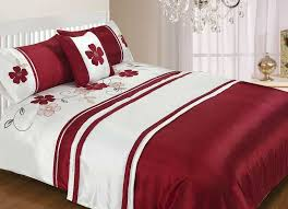 5 Piece Duvet Set Red Duvet Cover Intended For Your Home Rinceweb Com