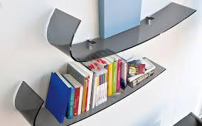 Modern Wall Bookshelves Awesome Curved Bookshelves Contemporary Best Idea Home Design