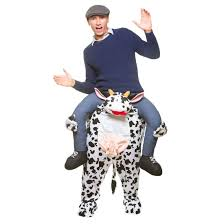 adults carry me cow costume halloween fancy dress