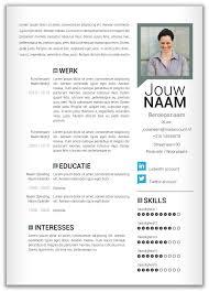 Cv Sjabloon Nederlands 36 best cv idee images on resume resume ideas and
