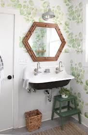 Diy Bathroom Makeovers - diy home guest bathroom makeover with removable wallpaper tile