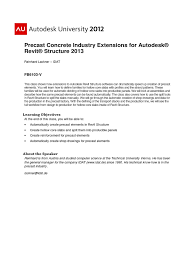 autodesk precast concrete industrial extension autodesk revit