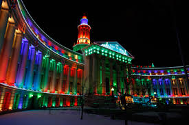 Commercial Building Christmas Decorations by Electric Christmas Lights