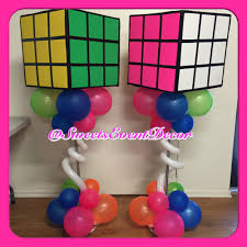 80 u0027s theme neon theme event decor rubiks cube balloon