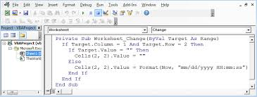 insert date time stamp with vba microsoft excel tips from excel