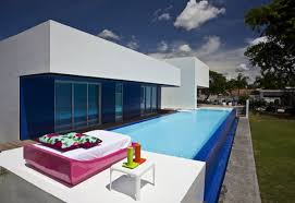 awesome modern outdoor swimming pool decoration ideas with blue