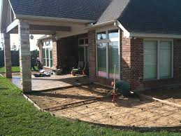 Stamped Patio Designs by Covered Concrete Patio Nyfarms Info