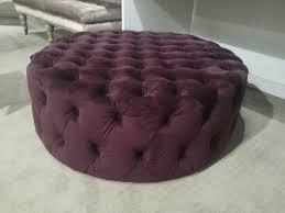 Etsy Ottoman Large Charcoal Velvet Ottoman Purple Velvet Upholstery