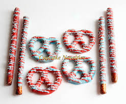 dr seuss birthday baby shower chocolate dipped pretzels