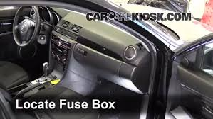 interior fuse box location 2004 2009 mazda 3 2009 mazda 3 s 2 3