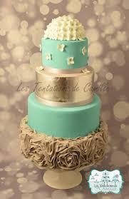 turquoise u0026 gray wedding cake cakecentral com