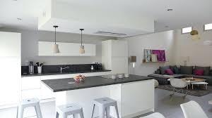 cuisine blanche ouverte sur salon deco peinture cuisine deco peinture cuisine ouverte sur salon deco