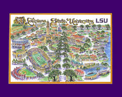 Lsu Map Colleges U0026 Universities Linda Theobald Art P O Box 6226
