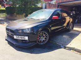 mitsubishi lancer evo x 10 gsr sst fq300 38k 350bhp black with 19