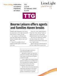 family breaks ttg 25 february bourne leisure
