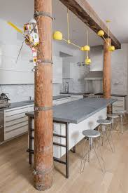 black moon soapstone kitchen industrial with exposed wood beams