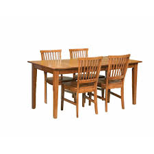 home styles arts and crafts 5 piece cottage oak dining set 5180