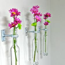 Wall Mounted Glass Flower Vases Wall Vase Sconce Regarding Warm Earthgrow