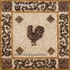 Tile Medallion Backsplash by Rooster Kitchen Backsplash Tile Medallions Side Dishes