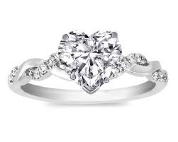 heart shaped diamond engagement ring engagement ring heart shape diamond twisted pave band heart