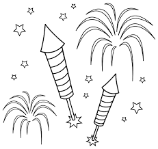 coloring pages 4th july fireworks clip art get coloring pages